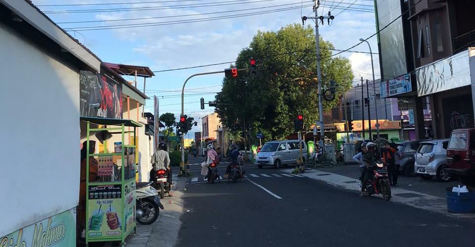 Lalulintas di Traffick Light Kelurahan Toboko. Kota Ternate Selatan, Jumat 17 Januari 2020 || Foto : Awi/Hpost