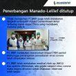 Cegah Penyebaran Corona, Penerbangan Manado-LililefDihentikan Sementara