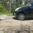 Jalan Penghubung 2 Kecamatan di Halmahera Selatan Rusak Parah